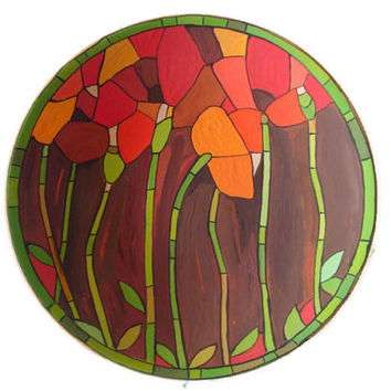 Decorative Ceramic Handmade Plate 'Flowers'