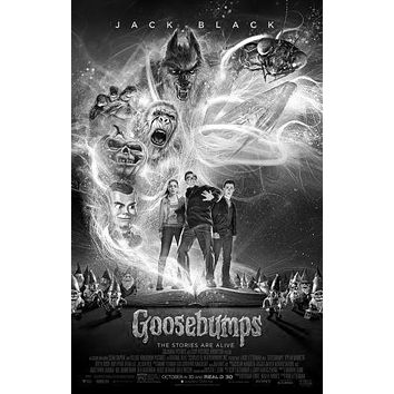 "Goosebumps Poster Black and White Poster 16""x24"""