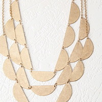 Layered Half-Circle Necklace