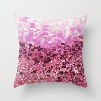 :: Pink Compote :: Throw Pillow by :: GaleStorm Artworks ::