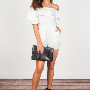 The Breakout Romper, Off White