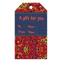 Colorful Organic Pattern Gift Tags