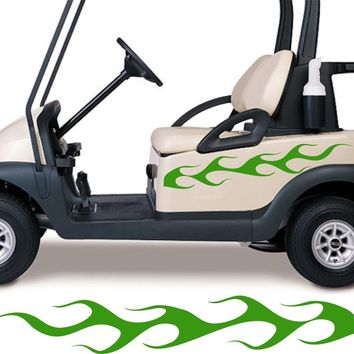 Golf Cart Go Kart Decals Side By Side Stickers Graphics Tribal Flames Stripes GG21