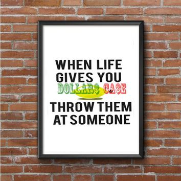 When Life Gives You Lemons Photo Poster