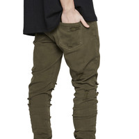 Essential Denim Destroyed - Olive