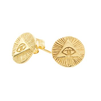 Triangle Eye Stud Earrings