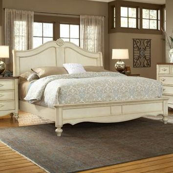 American Woodcrafters Chateau Panel Bed
