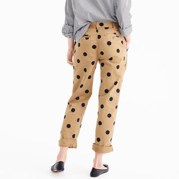 Boyfriend chino pant in polka dot