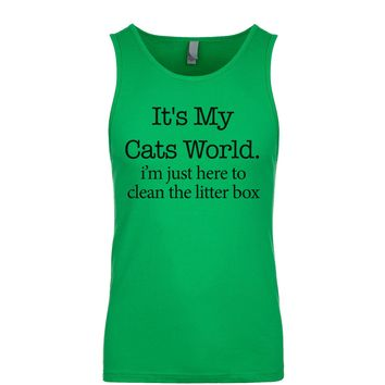 It's My Cats World I'm Just Here To Clean The Litter Box Men's Tank