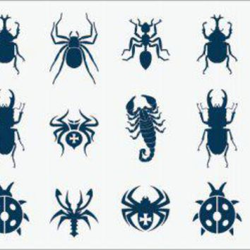 Waterproof Temporary Tattoo Sticker small beetle scorpion spider tattoo for girl finger tatto stickers flash tatoo fake tattoos
