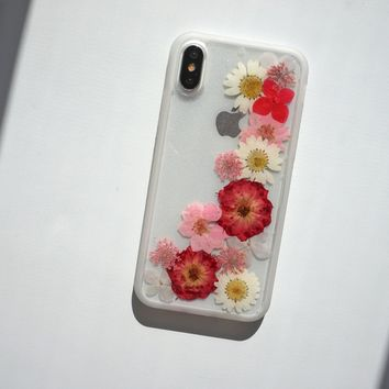 Real Flowers Phone Case with Soft TPU Edges