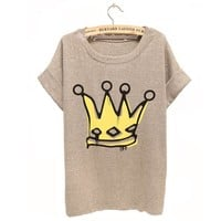 Buy Big Royal Crown Watercolor T-shirt For Her