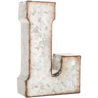 Small Galvanized Metal Letter Wall Decor - L | Hobby Lobby | 1185263