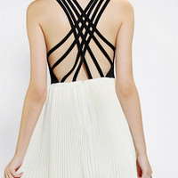 Urban Outfitters - KNT By Kova & T Windsor Lattice-Back Dress
