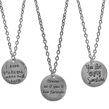 Inspiration Charm Necklaces-6 Designs-Perfect Valentines Day Gifts