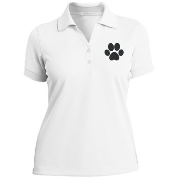 Paw Print Ladies Nike? Dri-Fit Polo Shirt