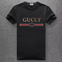 GUCCI Unisex Fashion Casual Pattern Print T-shirt Top Tee Blouse