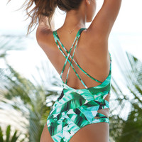 LA Hearts Tropical Print Strappy One Piece Swimsuit at PacSun.com