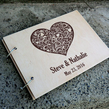 Rustic Wedding Guest Book Custom Wedding Guest book Personalised Wedding Guest Book Alternative Wooden Guest Book Wood Guestbook