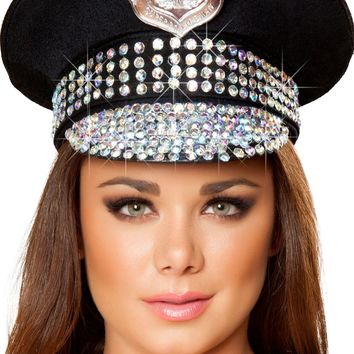 Studded Police Hat