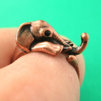 Elephant Wrap Around Ring in Copper for MEN and WOMEN Sizes 4 to 15 Available