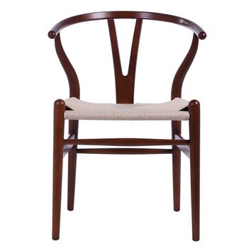Wishbone Chair CH24 Y Chair - Light Walnut & Natural Paper Cord - Reproduction | GFURN