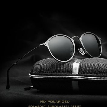 VEITHDIA Fashion vintage Unisex Aviation Aluminum Round Polarized SunGlasses Men Women brand designer Sun glasses Eyewear 6358