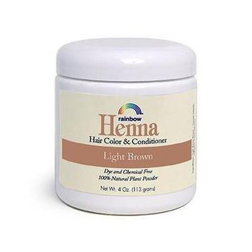 Rainbow Research Henna Hair Color and Conditioner Light Brown - 4 oz
