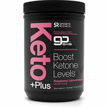 New! Keto Plus with Exogenous Ketones (BHBs) ~ Get into Ketosis, Enhance Performance & Mental Focus ~ Vegan & Keto Friendly, Non-GMO & Gluten Free (Raspberry Lemonade)