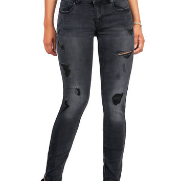 Grunge Fade Skinny Jeans
