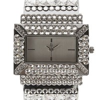 Jimmy Crystal Rectangle Cuff Watch