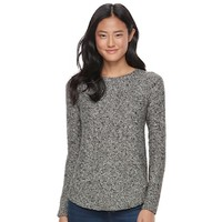 Juniors' SO® Shirttail Cable-Knit Sweater   null