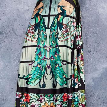 GLASS GARDEN MAXI SKIRT - LIMITED
