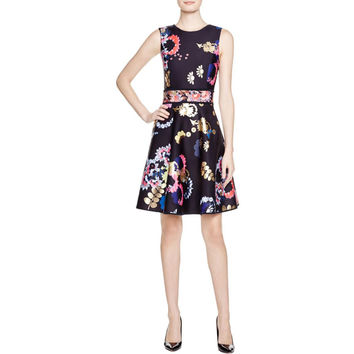 Cynthia Rowley Womens Sleeveless Floral Print Casual Dress