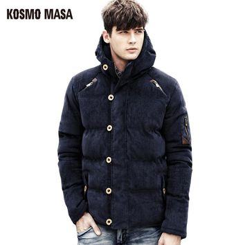 KOSMO MASA 2017 Cotton Hooded Winter Jacket Parka For Men Brand Clothes Coat Campera Puffer Jackets Mens Down Parkas MP011
