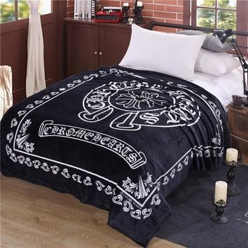 280 GSM Fleece Blankets Crow heart Sofa Blanket On The Bed High Quality Direct Selling