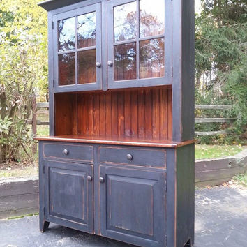 Reclaimed Barn Wood Kitchen Dining Hutch China Cabinet With Drawers