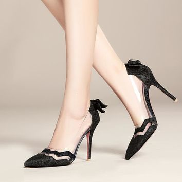 Big Size Sale 34-47 New Fashion Sexy Pointed Toe Women Pumps Platform super High Heels Ladies Wedding  Party Shoes 10-17