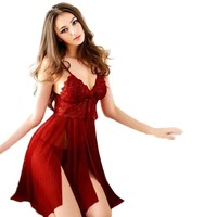 New European 2017 Women Sexy Lingerie Underwear Babydoll Sleepwear Lace Dress G-string Nightwear Comfortable Female Dress