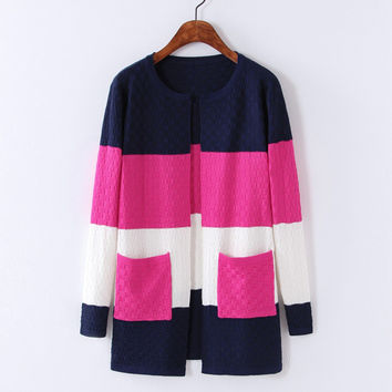Knit Cardigan Sweater Coat Women 2016 Spring Summer Candy Color Open Stitch Female Casual Thin Long Knitted Cardigans Jacket
