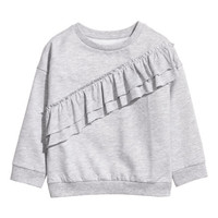 Sweatshirt with Flounces - from H&M