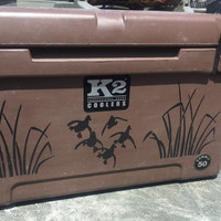Duck hunting cooler sticker