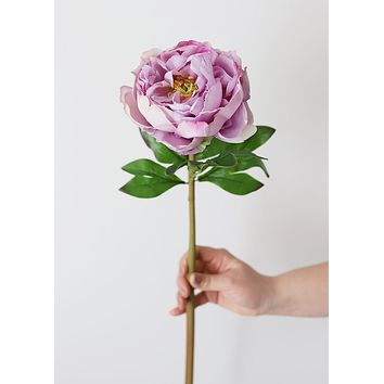 """Natural Touch Lavender Silk Peony - 22"""" Tall"""