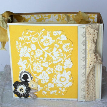 Scrapbook Album Any Occasion, Authentique Classique Beauty Mini Album Friend gift, Anniversary gift, Mother's Day Gift