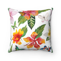 Hibiscus Flower Tropical Decorative Throw Pillows, Beach House Throw Pillow, Tropical Home Decor, Beach Home Decor