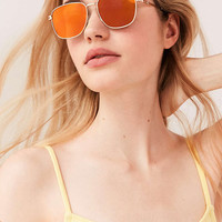 Squared Metal Frame Sunglasses - Urban Outfitters
