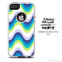 The Abstract Swirled Fun Colored Skin For The iPhone 4-4s or 5-5s Otterbox Commuter Case