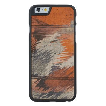 Red Fox Abstract Modern Art Carved® Maple iPhone 6 Case