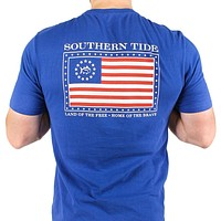 Mystery Independence T-Shirt in Blue Cove by Southern Tide - FINAL SALE