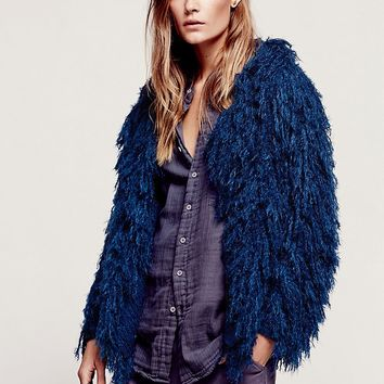 Free People Faithful Shaggy Jacket